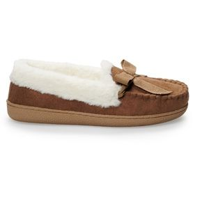 Women's SONOMA Microsuede Moccasin Slippers